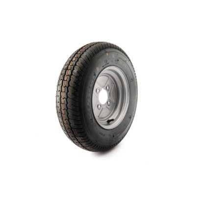 10 inch Trailer wheel and 145-80-10 Tyre 4 inch PCD to fit Indespension Trailers