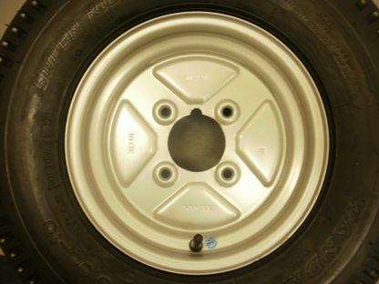 10 inch Trailer wheel and 500-10 6Ply Tyre 4 inch PCD fits Most English Trailers 04