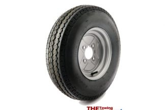 10 inch Trailer wheel and 500-10 6Ply Tyre 4 inch PCD fits Most English Trailers