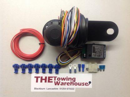 13 Pin Euro Electric Towbar Towing Wiring Kit 7way bypass relay cambas