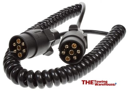 2.5m 7 Pin 12n plugs extension suzie curly cable for trailer lights