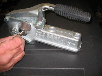 Genuine Bradley Lockit 1-2 Trailer security lock for cast couplings HU3.HU3HE