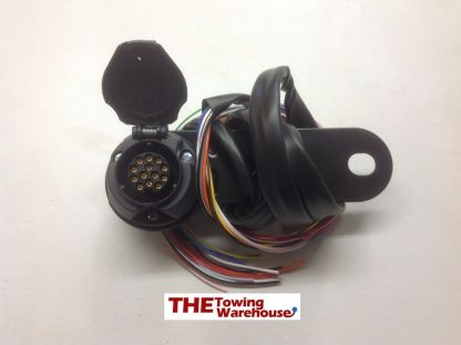 13 pin Euro type car socket pre wired with back plate