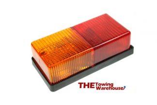 Large Rectangular 4 function rear lamps-lights for Caravans-Trailers etc