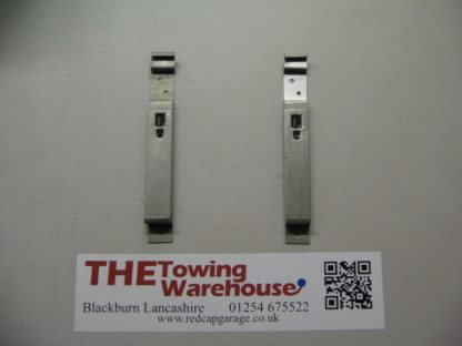 Pair of Stainless Steel Spring Loaded square Number Plate Clips