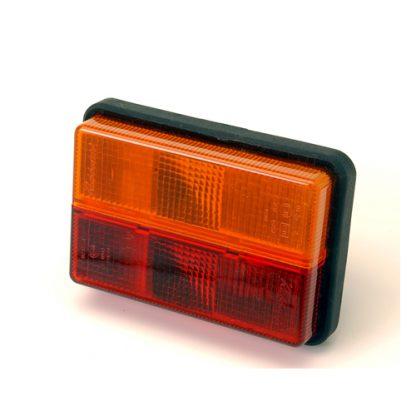 Rubbolite Oblong stop-tail-indicator lens tr6268