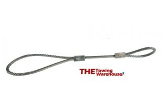 Secondary coupling / Breakaway cable for UNBRAKED trailers