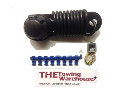 Single 7 pin Electric Towbar Towing Wiring Kit with audible warning trailers