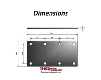 Knott Avonride Mounting Plates 8 Hole for 750Kg Trailer Suspension Units