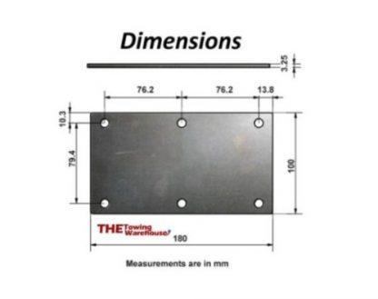 Knott Avonride Mounting Plates 6 Hole for 350 / 550Kg Trailer Suspension Units