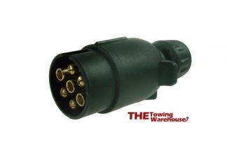 12V 'N' type 7 pin plastic plug used on caravan and trailer applications