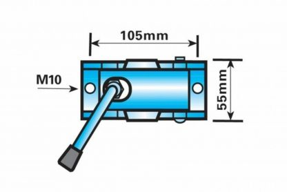 42 mm pressed steel clamp for Jockey Wheels Prop stands diagram