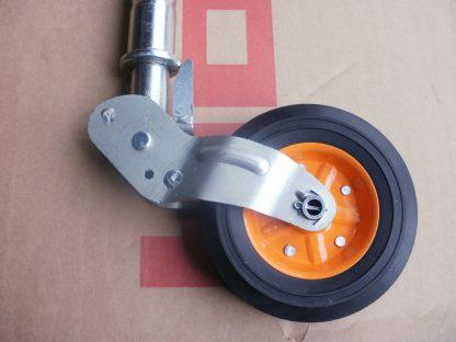 48mm Retractable Kartt Top Quality Heavy Duty Steel Ribbed Jockey Wheel