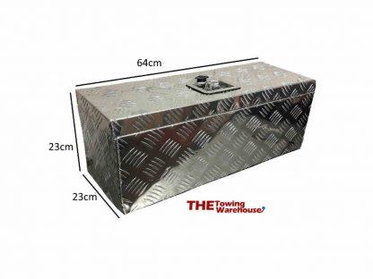 Aluminium Chequer Plate Storage-Tool Box Lockable lid trucks, trailers