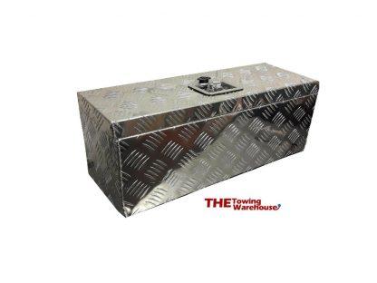 Aluminium Chequer Plate Storage-Tool Box Lockable lid trucks, trailers 3