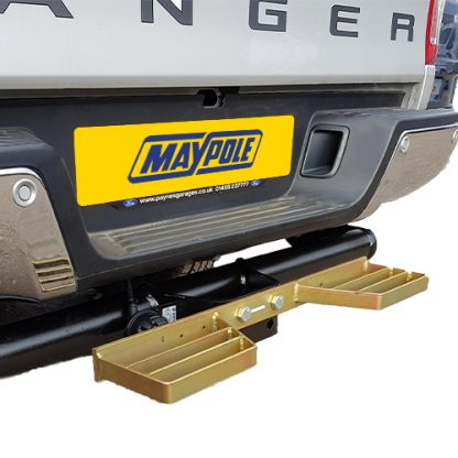 Heavy Duty Towbar Mounted Double Step 346 on vehicle