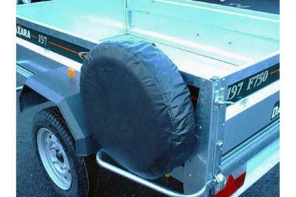 MP94708 8″ Spare Trailer Wheel Cover on trailer