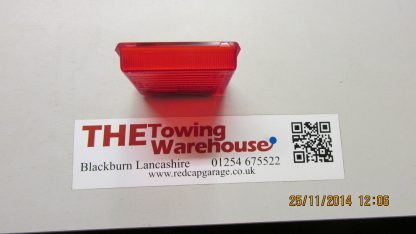 Square Rubbolite Rear Fog Lamp-Light Lens for Ifor Williams Trailers PO6770-F top view