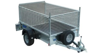UNBRAKED TRAILER - MEG 7564W 01 with mesh sides