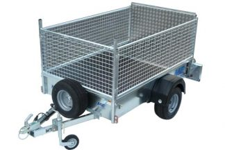 UNBRAKED TRAILER - MEG 7564W with mesh sides