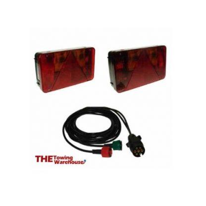 Radex 7 Pin Plug Kit cable and lights