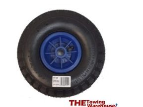 Jockey wheel blue plastic
