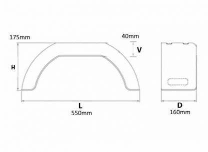 2705 A pair of 8 Moulded Plastic dimensions diagram