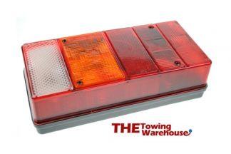 Large Oblong 6 function rear lamps-lights for Caravans-Trailers etc 01