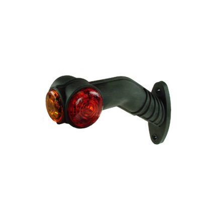 MP7723BL 10-30V LED 90° Left Hand Red/White/Amber Outline Marker Lamp